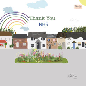 NHS Thank You digital illustration by Katie Carr Design